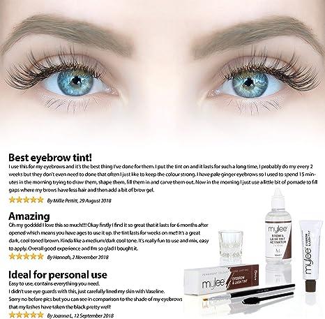 Kit de tinte para cejas y pestañas de Mylee: Amazon.es: Belleza
