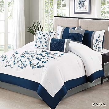 Amazon.com: KingLinen Kaisa - Juego de edredón (7 piezas ...