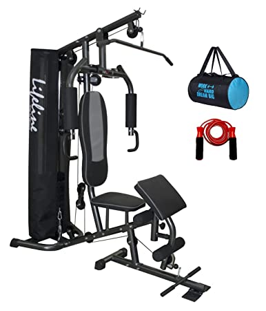 Lifeline home gym deluxe with cover preacher curl hg
