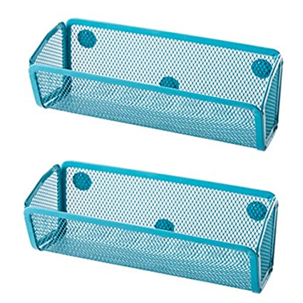Beau W 2Pack Small Mesh Magnet Storage Container Caddy Basket Holder For  Whiteboard/Refrigerator