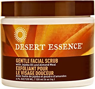product image for Desert Essence Gentle Facial Scrub - 4 Fl Oz - Jojoba Oil - Almond Meal - Oat Buff Skin - Aloe Vera - Cucumber - Removes Dead Skin Cells, Unclogs Pores - For Radiant Skin - Exfoliating Scrub