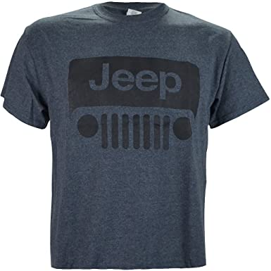 Amazoncom Jeep Wrangler Logo On A Dark Heather T Shirt Clothing - Jeep logo t shirt