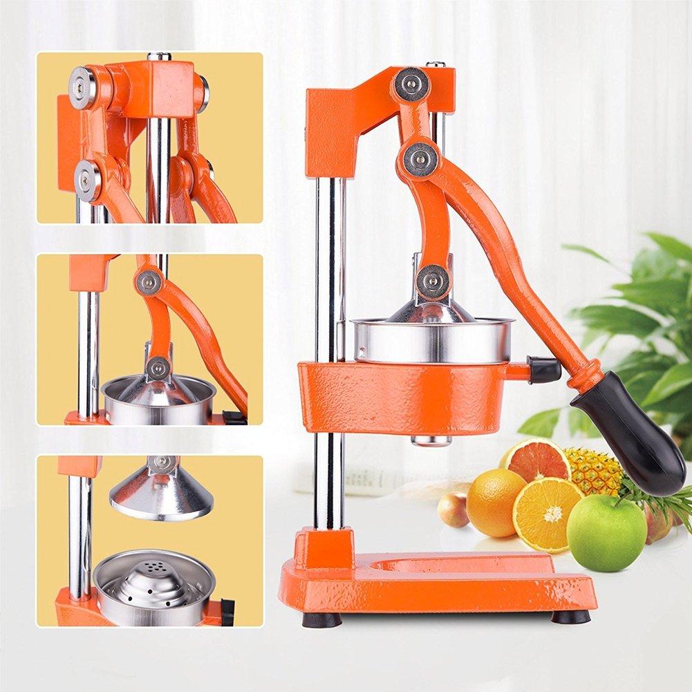 Compra BAKAJI Exprimidor Manual de Palanca de Acero Inoxidable exprimidor de cítricos Naranjas Limones Fruta tamaño 71 x 22 x 17 cm en Amazon.es