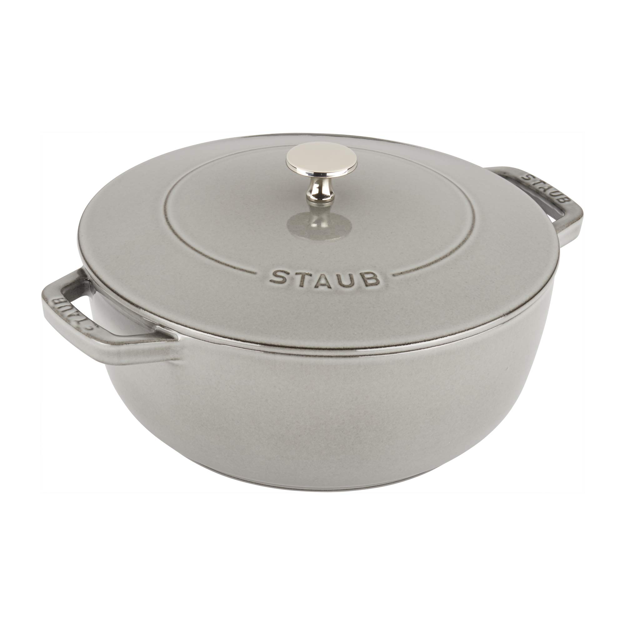 Staub Cast Iron 3.75-qt Essential French Oven - Graphite Grey