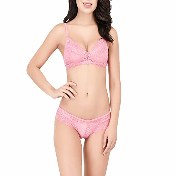 ba7c37de83 Viral Girl Women s Green B-Cup Full-Net Sexy Bra   Panty Set (Set of 1)   Amazon.in  Clothing   Accessories