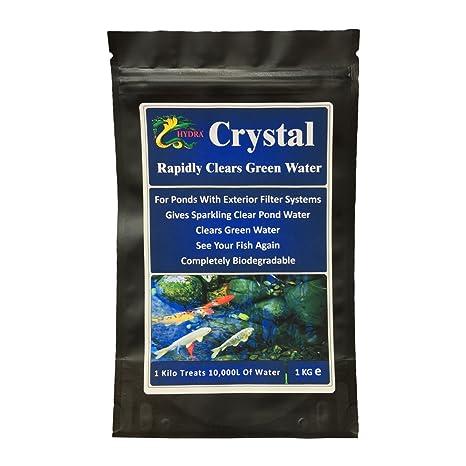 1 kg verde para estanques de tratamiento de agua Hydra Crystal Treats hasta 10.000 litros