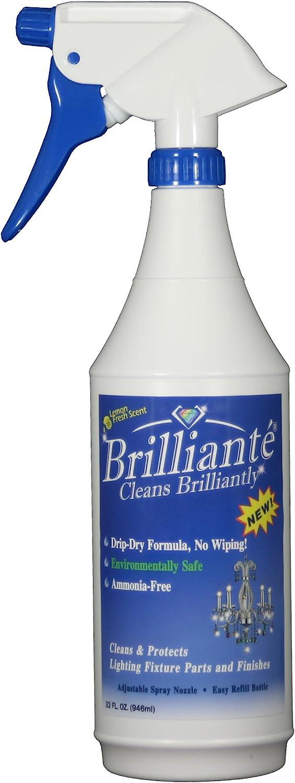 B002PDR1QG Brilliante Crystal Chandelier Cleaner Manual Sprayer 32oz Environmentally Safe, Ammonia-Free, Drip-Dry Formula, Made in USA (1) 71nztqBctLL