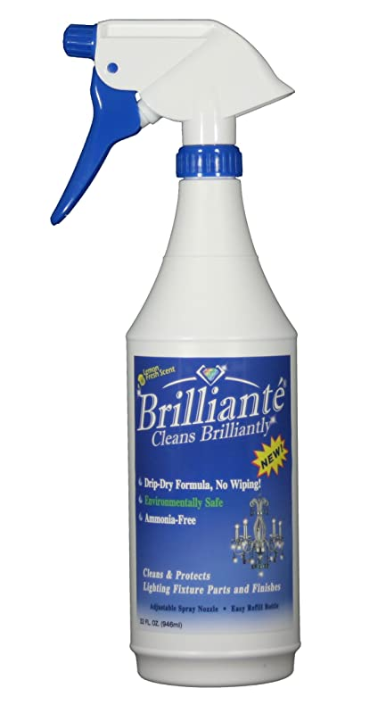 Amazon brilliante crystal chandelier cleaner manual sprayer brilliante crystal chandelier cleaner manual sprayer 32oz environmentally safe ammonia free drip mozeypictures Choice Image