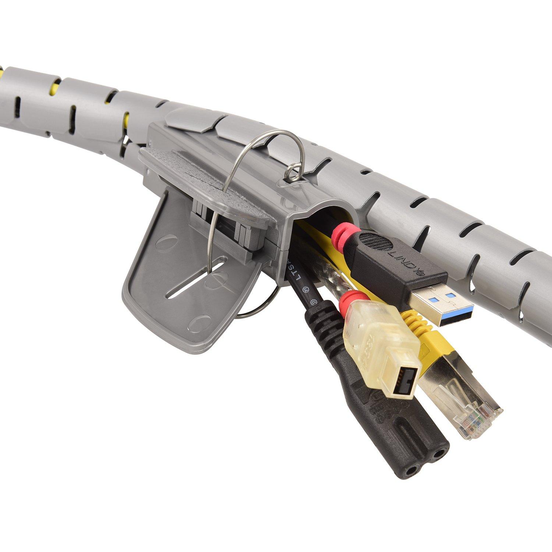 Blanc 1,5 M TPFNet Gaine Range Cable Spirale 20 mm avec loutil