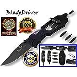 BladeDriver Multitool Flashlight Screwdriver Knife Multi-Tool Holtzman's (Black)