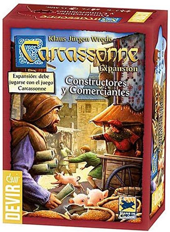 Devir BGCARCO. Juego de mesa. Expansion Carcassonne Constructores y Comerciantes. Edicion en castellano: Amazon.es: Juguetes y juegos