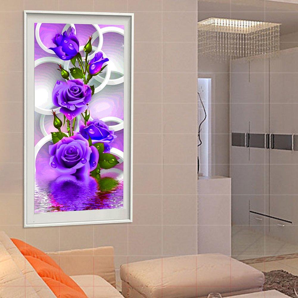 Arbeitszimmer usw. Schlafzimmer Amazingdeal365 Motiv-lisa Rose 5D DIY Diamond Stickerei Malerei Kreuzstich Kinderhandarbeit zum Lernen f/ür Balkon,Terasse,Caf/é,Kinderzimmer,Wohnzimmer