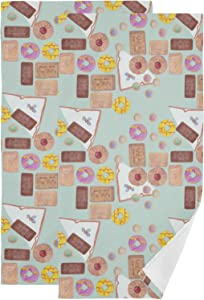 Cookies Pattern Hand Towel Set Ultra Soft Absorbent Quick-Dry Hand Towels for Bath Fitness, Bathroom, Sports, Yoga, Travel (2-Pack ,28.3x14.4in)