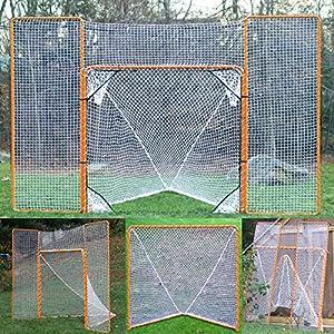 EZGoal Lacrosse Folding Goal with Backstop and Targets, Orange
