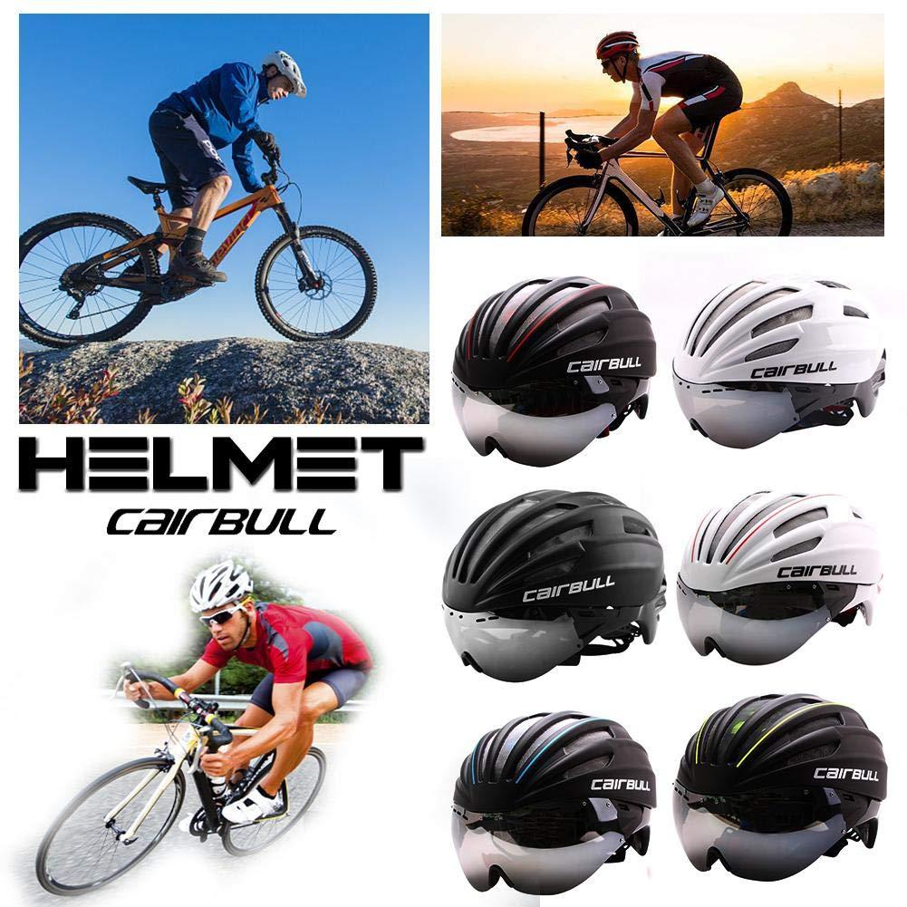 CAIRBULL Ultra Light Aero Lunettes Route TT Casque De V/élo Cyclisme V/élo Casques Riding Racing Time-Trial Casque De S/écurit/é pour Hommes