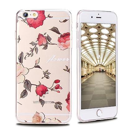 Funda iPhone 6 , Carcasa iPhone 6s, Transparente Suave Gel ...