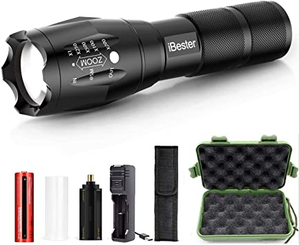 High Powered T6 LED Tactical Flashlight Torch Lamp//Rechargeable Battery//Charger