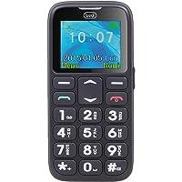 Trevi SICURO 10 Telefono Cellulare per Anziani con Tasti Grandi, Funzione SOS, Base di Ricarica, di facile utilizzo, Nero