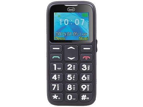 2ef8cebdba Trevi SICURO 10 Telefono Cellulare per Anziani con Tasti Grandi, Funzione  SOS, Base di