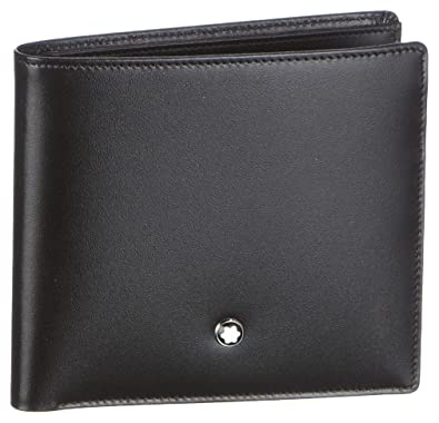 74b88accfe9b6 Image Unavailable. Image not available for. Color: Montblanc Meisterstuck  Men Black Wallet ...