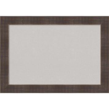 Amazon.com: Amanti Art Framed Grey Cork Board Whiskey Brown Rustic ...
