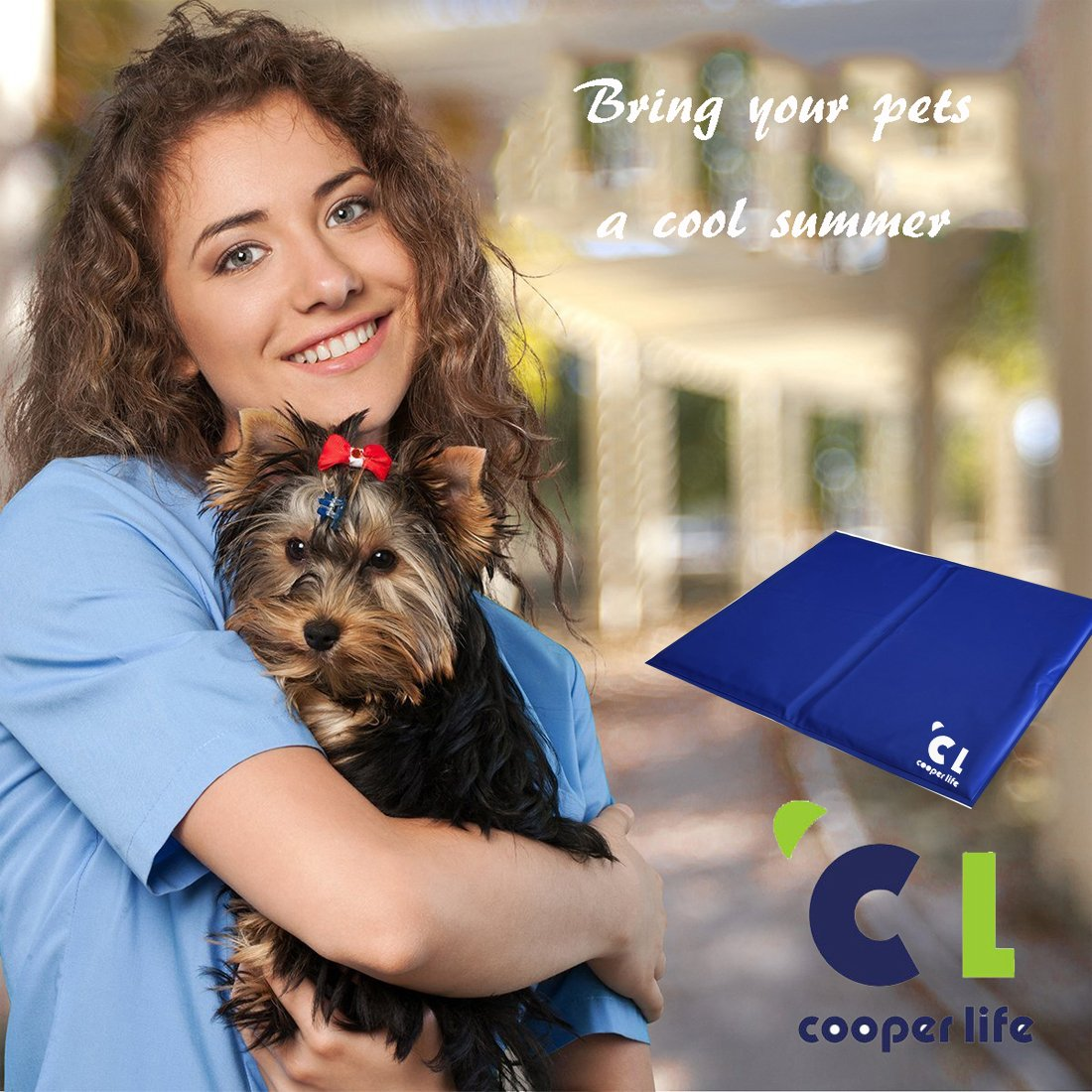 Cooper life Self Cooling Gel Pet Mat,Summer Sleep Cooling Mat/Pad with Easy to Clean,Non-Toxic——Prevent Overheating and Dehydration for Dogs,Cats&Pets. Perfect for Bed,Chair,Floor, Couch& Kennel (L) by Cooper life (Image #4)
