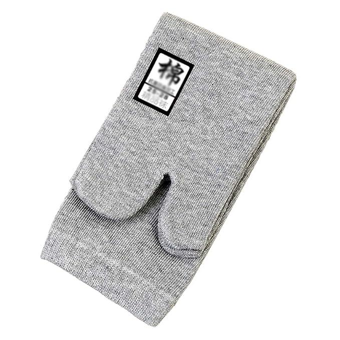 3 pares de sandalias kimono tradicional japonesa Split toe Tabi Ninja Geta calcetines para unisex, gris: Amazon.es: Ropa y accesorios