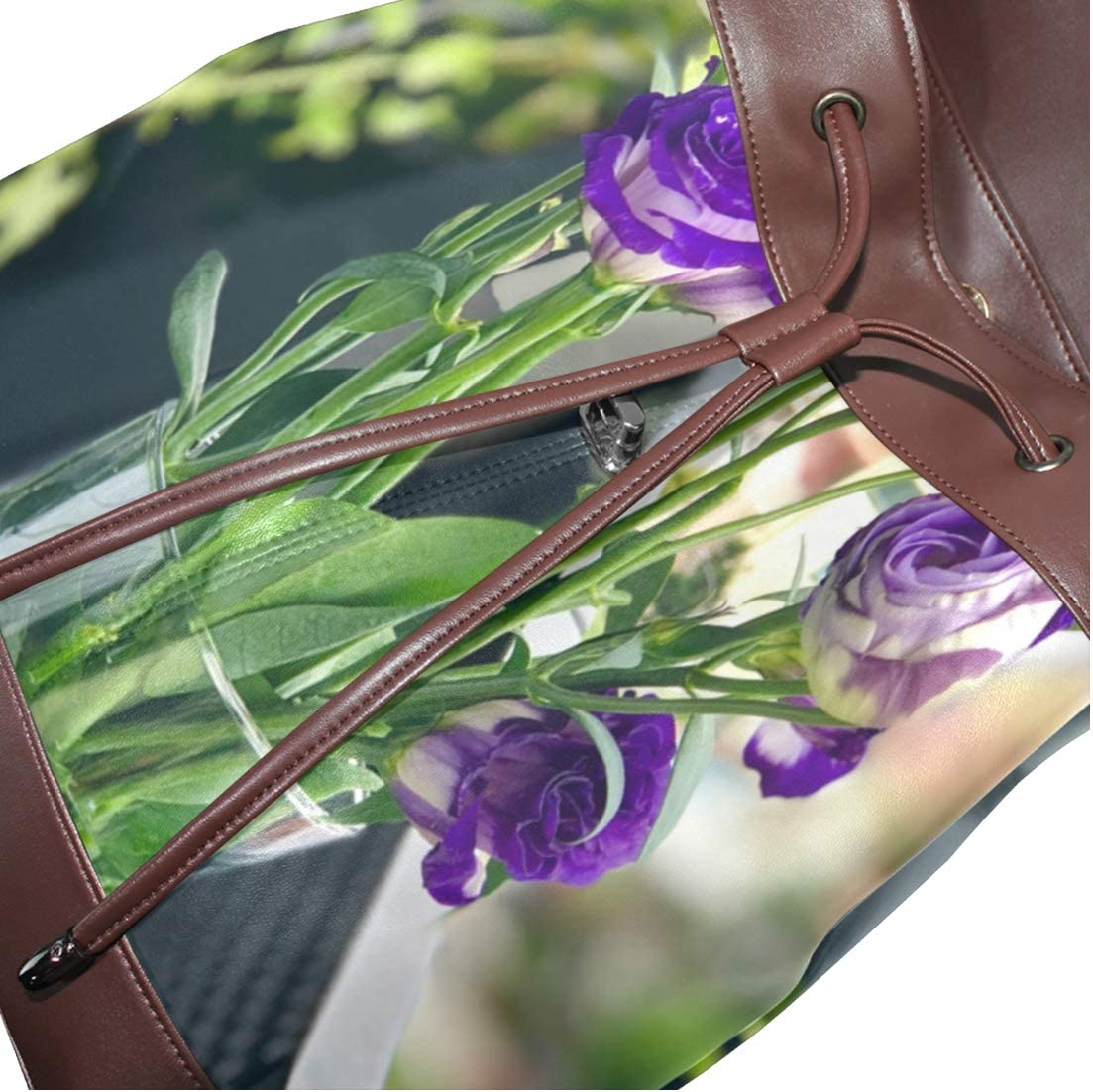 Storage Bag For Men Women Girls Boys Personalized Pattern Purple Flower Travel Bag Shopping Bag 2 School Bag Backpack