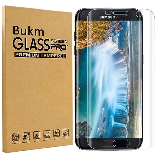 40 opinioni per Galaxy S7 Edge pellicola protettiva, Bukm proteggi schermo in vetro temperato