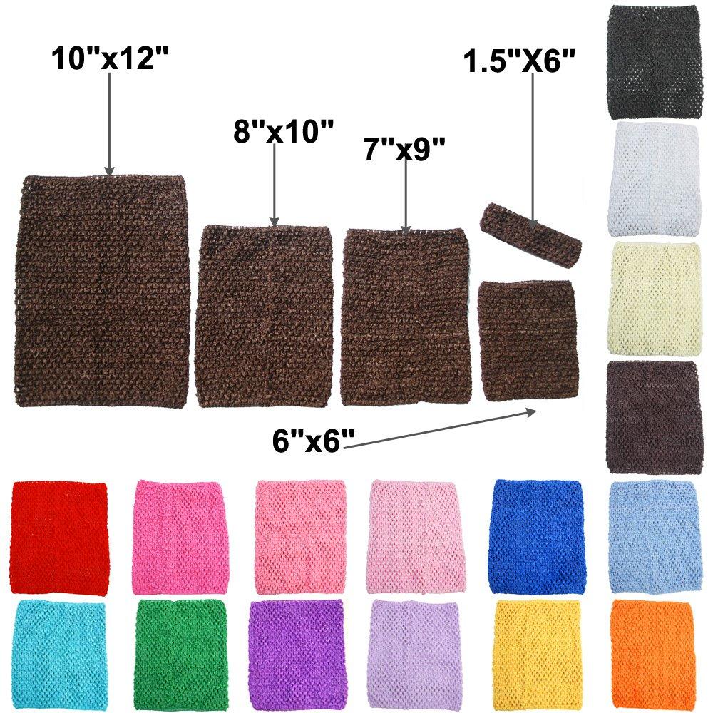 TtS 1.5x6 Crochet Tube Top Tutu Infant Dress elastic Girls Skirt Pettiskirt - Brown Touch Global Ltd