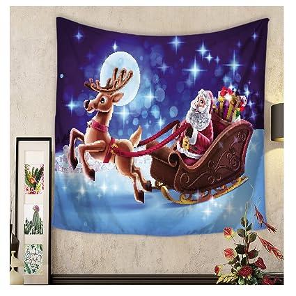wchuang wall christmas tapestry home decor wall hanging dorm dcor beach throw m - Amazon Christmas Home Decor