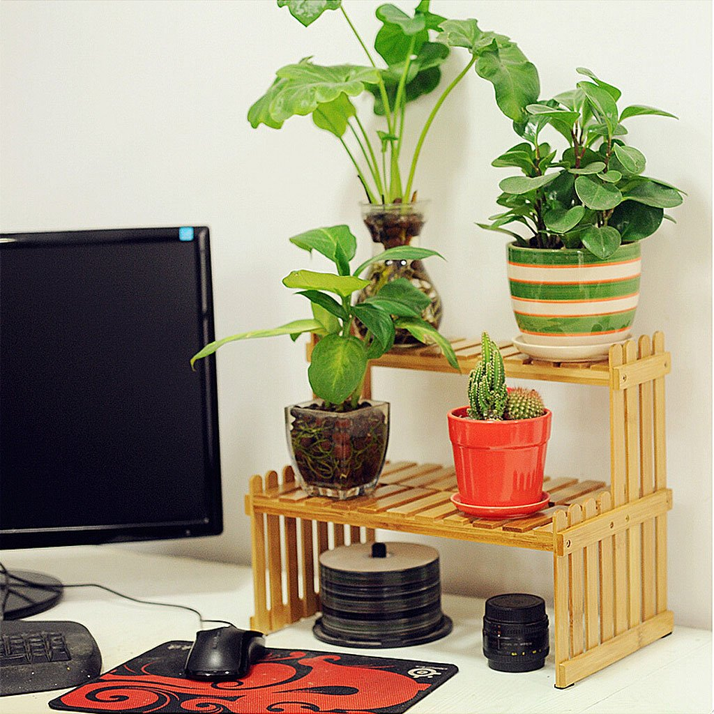 Solid Wood Flower Stand Suitable For Living Room Balcony Computer Desk | 3 Size (Size : 262130cm) by TY BEI (Image #7)