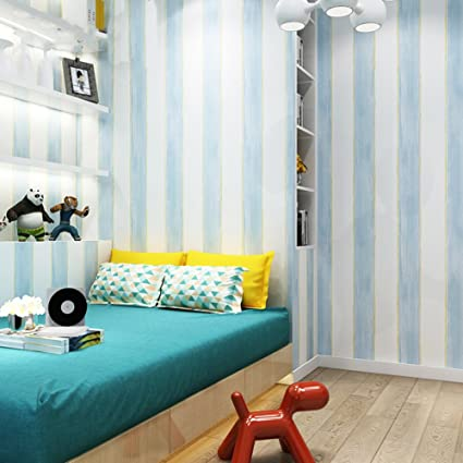 Kids Room Non Woven Wallpaper,Girl Bedroom Tv Background Wall Modern  Minimalist Wallpaper Vertical