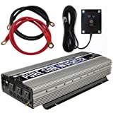 GoWISE Power PS1004 3000W Continuous 6000W Surge Peak Power Pure Sine Wave Inverter with Starter Cables and 4 Output…