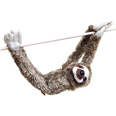 28-Inch Hanging Sloth Stuffed Animal - Ultra Soft Plush Design With Hands And Feet That Connect Together - Realistic Looking Three Toed Sloths - Bring These Popular Sloths Home To Boys & Girls Ages 3+: Toys & Games