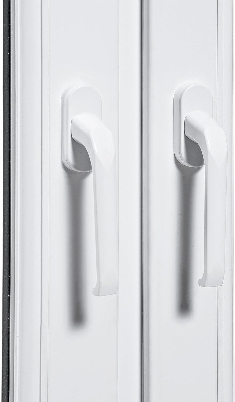 verschiedene Ma/ße Wohnraumfenster 2 fl/üglig Kunststoff wei/ß BxH: 120 x 150 3-fach-Verglasung Fenster 70mm Profil