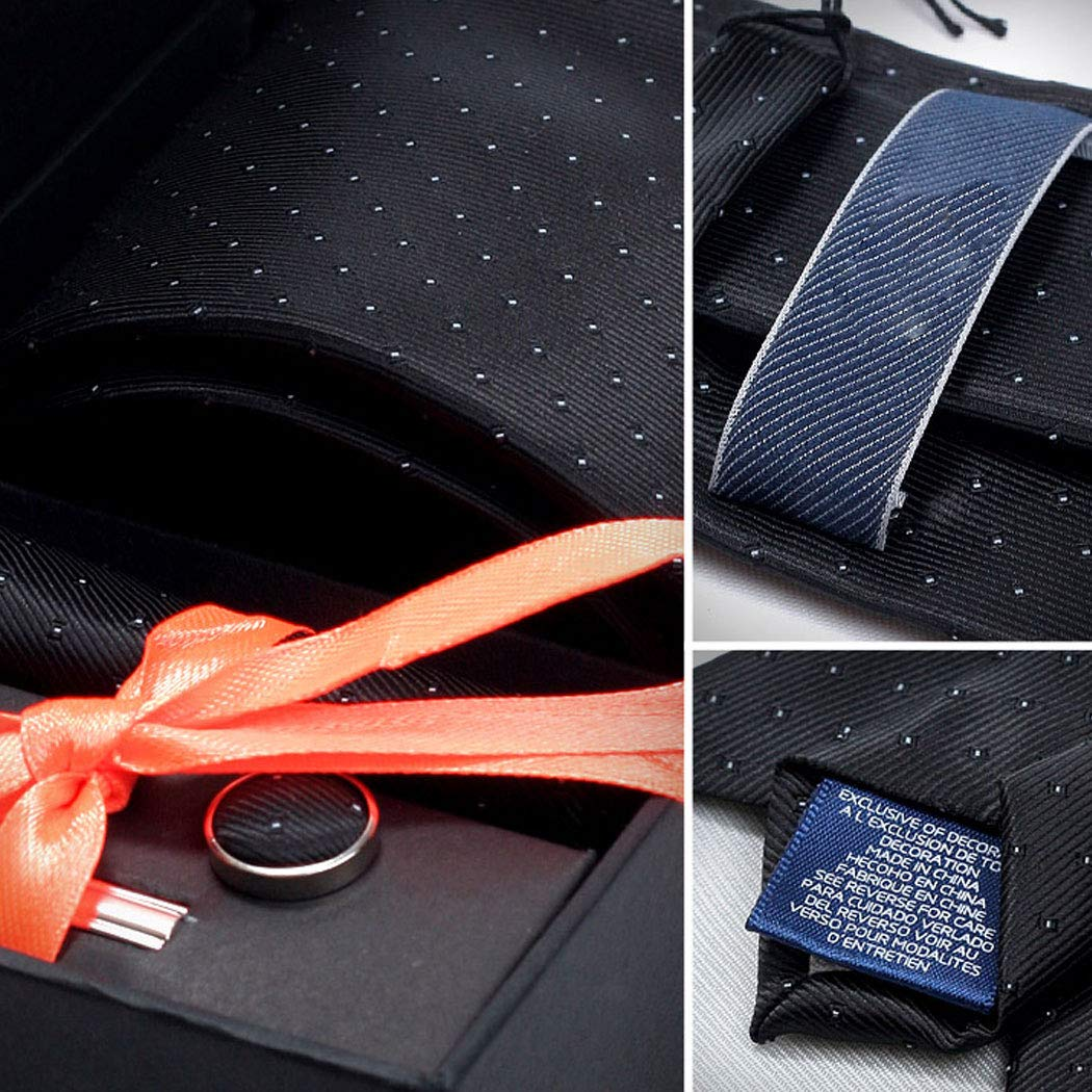 Color : Black1, Size : Tie 8.51453.5cm GJFeng Mens Tie Dress Business Casual Korean Wedding New Mens Tie Set Gift Tie Clip Gift Box Office Dating Black 8.5 145 3.5cm 。