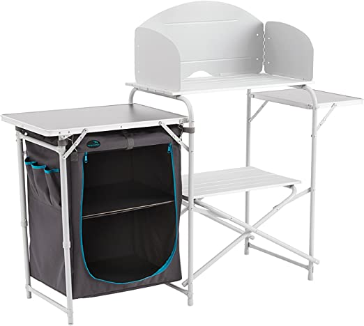 Easy Camp Sarin Mesa de Cocina, Color Gris/Plateado, Talla única