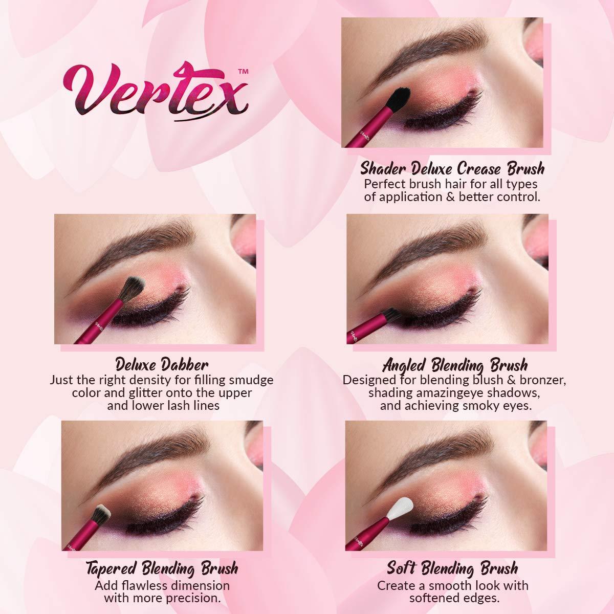 Makeup Eye Shadow Blending Brush Cut Crease Brush Set Pro Shader For Smooth Soft Finishes Tapered Brushes Soft Blender Expert Eyeshadow Shading Effortlessly Blend & Shade Cream Powder Highlighter: Beauty