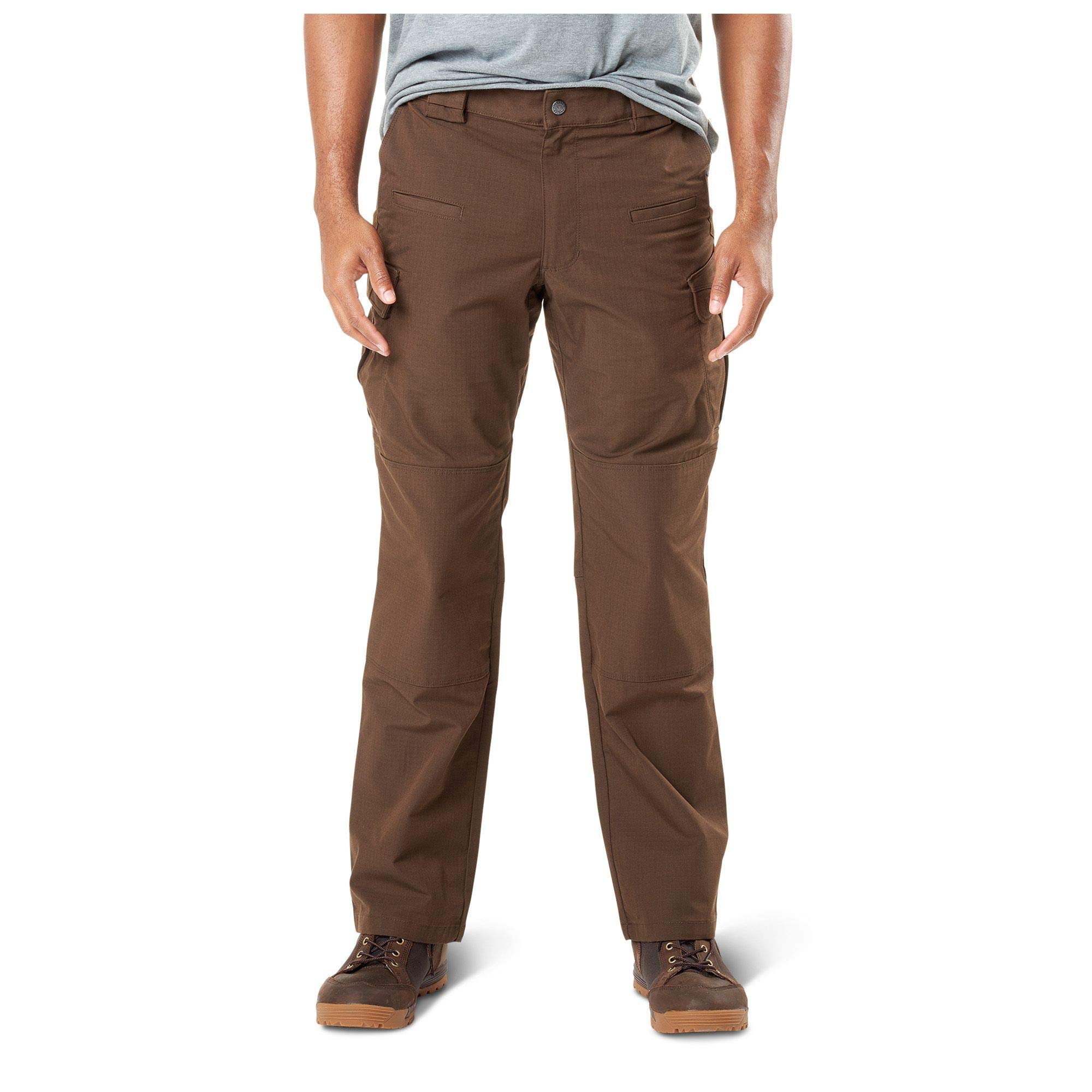 5.11 Men's Stryke Tactical Military Cargo Work Pant with Flex-Tac, Style 74369, Burnt, 34W x 34L