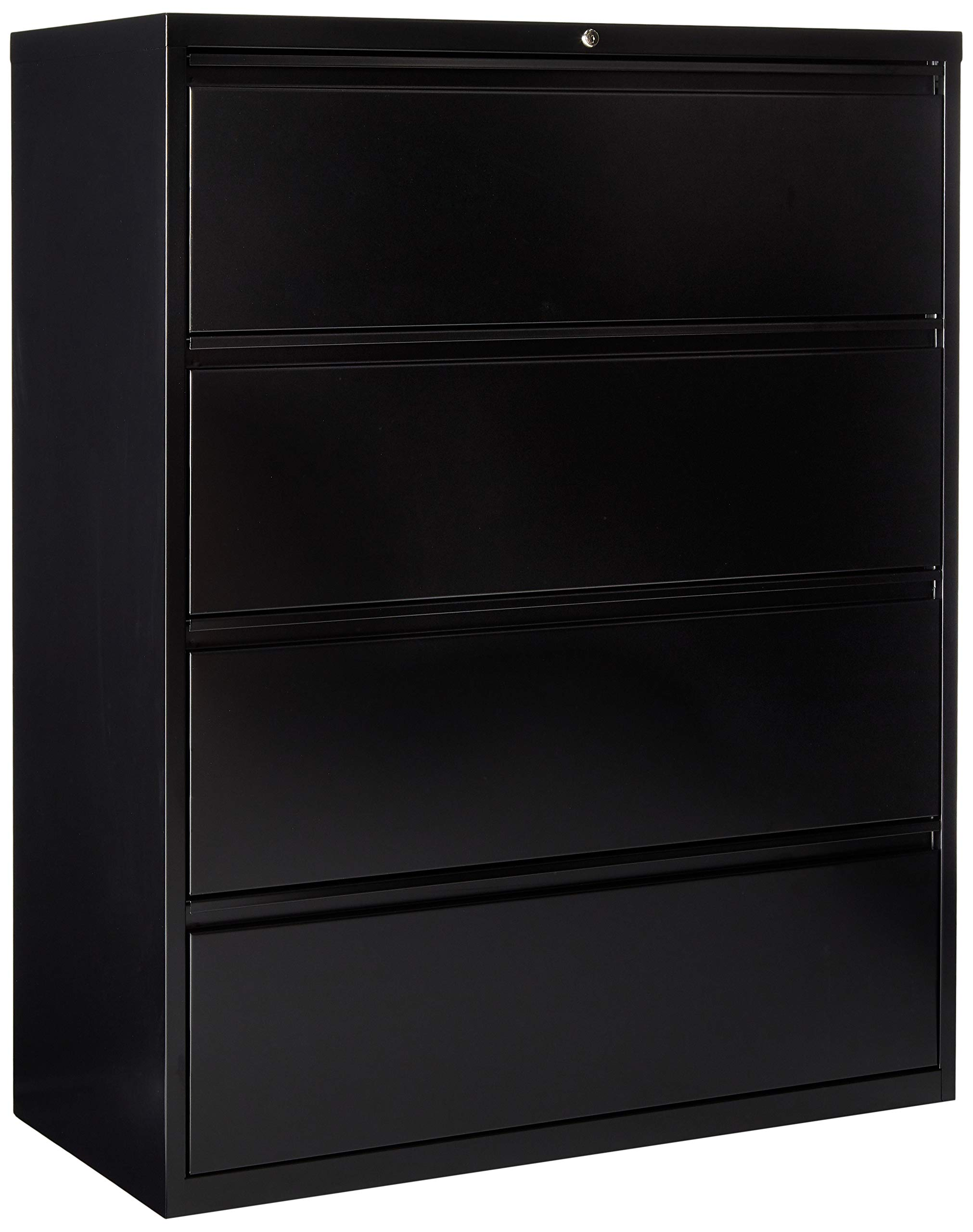 Lorell 4-Drawer Lateral File, 42 by 18-5/8 by 52-1/2-Inch, Black by Lorell