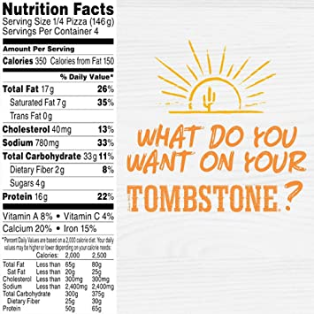 Tombstone Original Pepperoni Frozen Pizza 206 Oz Amazon