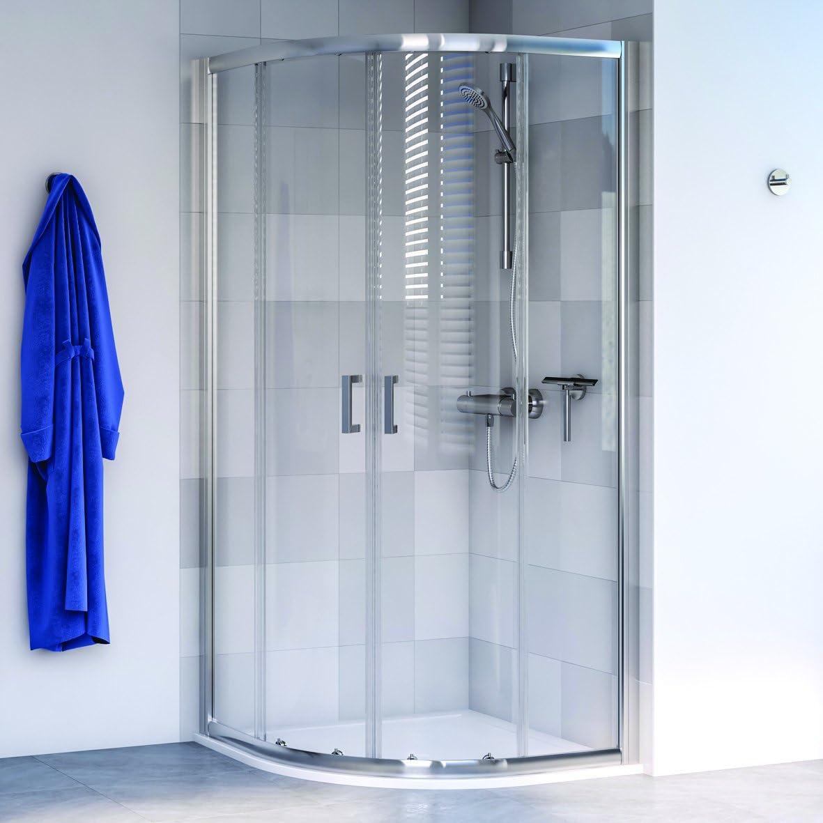 Aqualux 1193798 cuadrante ducha almacenaje, pulido Plata, 800 mm x 800 mm: Amazon.es: Bricolaje y herramientas