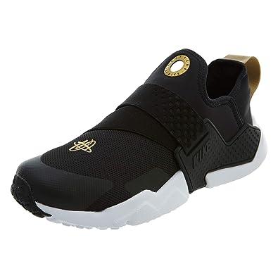 Nike Huarache Extreme (GS), Sneakers Basses Homme, Multicolore  Black/Metallic Gold