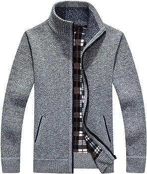 Vcansion Men's Full Zip Sweater Jacket