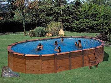 Piscina madera+acero gre nature pool hawaii 8,20x5,15x1,32m ...