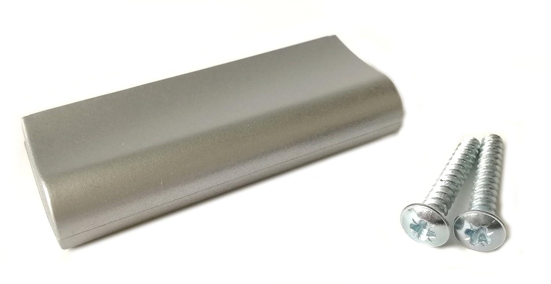 10 M/öbelgriffe Kunststoff silberfarbig BA 32 mm M/öbelgriff L = 63 mm