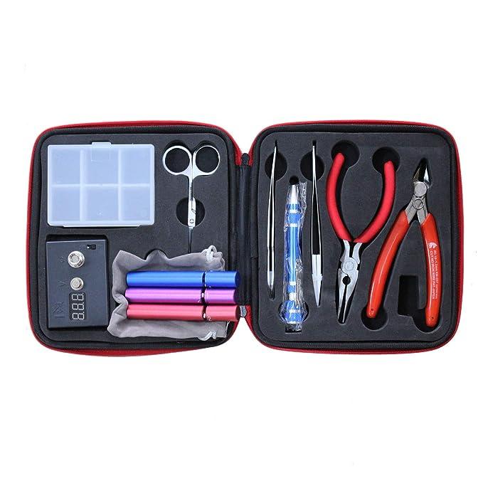 Kit de construcción de bobinas - Juego de herramientas de bricolaje con plantilla de bobina - Incluyendo (plantilla V2, medidor de ohmios, pinzas, ...