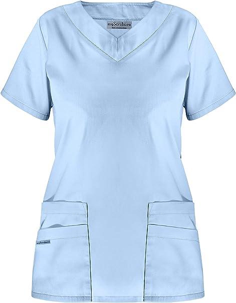 myscrubs Sudadera médica de Mujer Costura Uniforme médico Camisa: Amazon.es: Ropa y accesorios