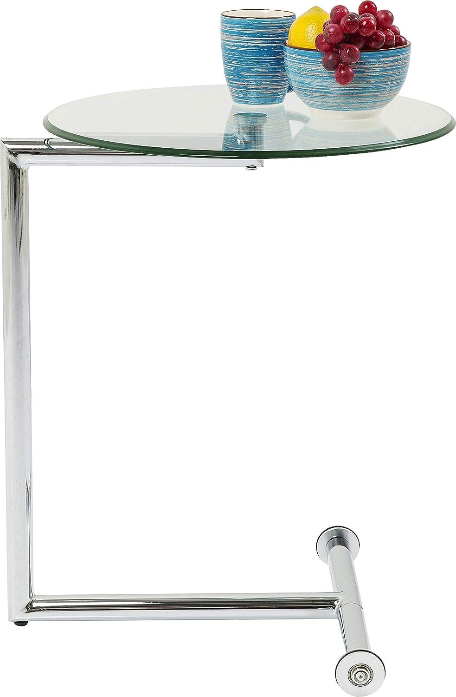 Kare 70629 Easy Living Table dappoint en verre transparent 62 x 51 x 46 cm